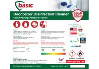 McQwin Basic Deodorizer Disinfectant Cleaner (Lavender, Draka, Flora, Lemon)